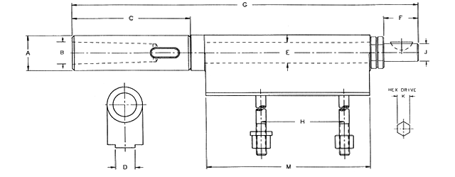 Adjustable Arm and Bracket Drilling Spindle Assembly